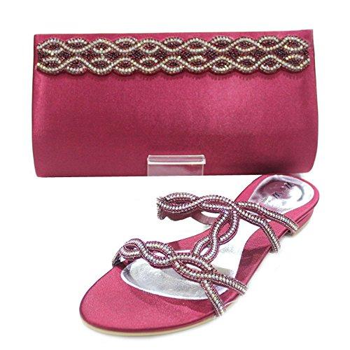Wear & Walk UK - Sandalias de vestir de Material Sintético para mujer Rojo - marrón