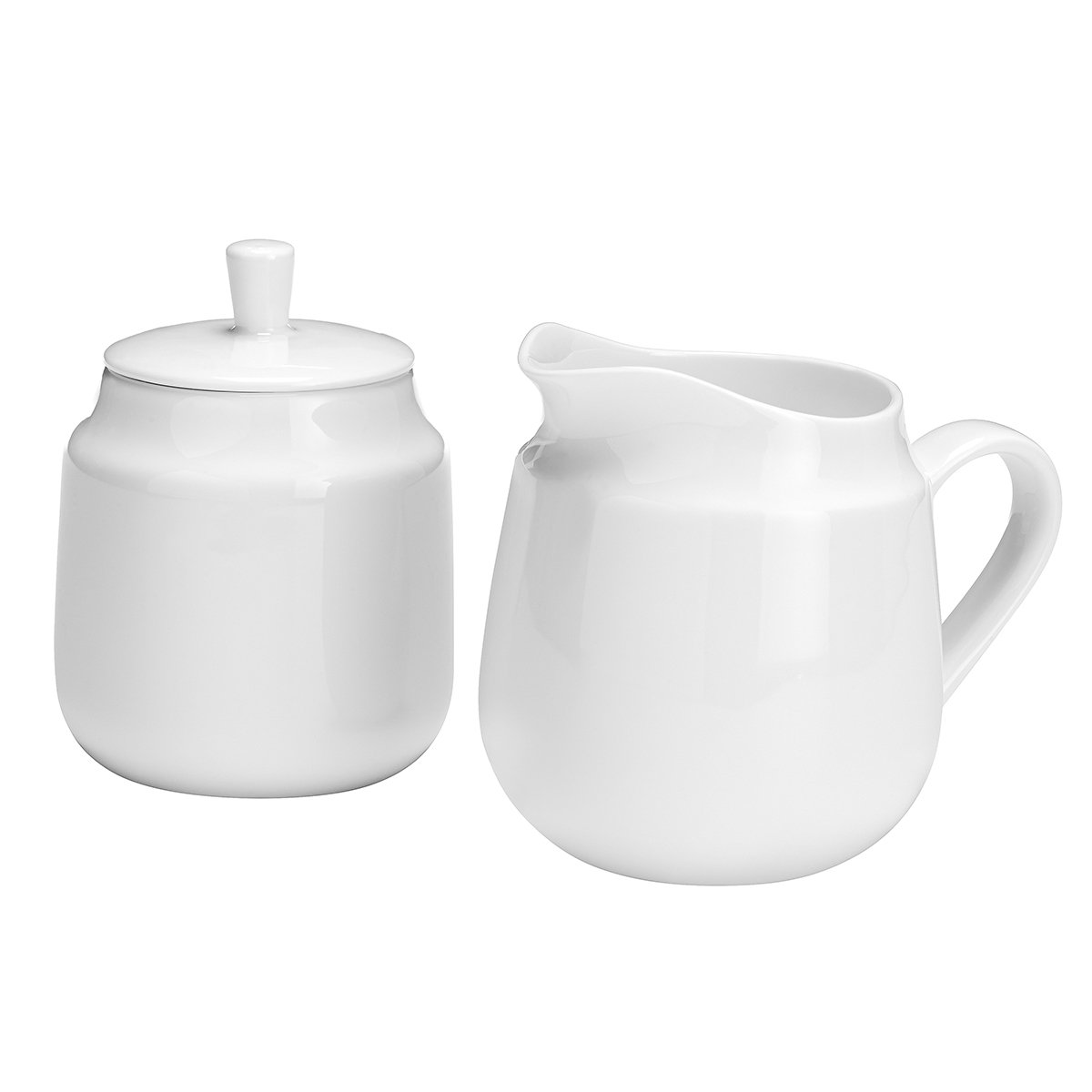 overandback 815982 Classic Bone Covered Sugar and Creamer Set, White