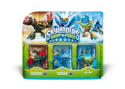 Skylanders SWAP Force Triple Character Pack: Hyper Beam Prism Break, Horn Blast Whirlwind, Rip Tide by Activision
