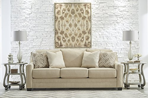 Mauricio Contemporary Linen Color Living Room Set, Sofa, Loveseat and Accent Chair