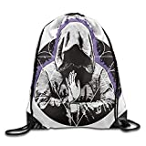 Khom A Mysterious Man Gym Drawstring Backpack Outdoor Sport Gym Rucksack Bag