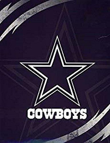 Cowboys Lightning Luxury Plush Queen Blanket 76x94 by Northwest ()