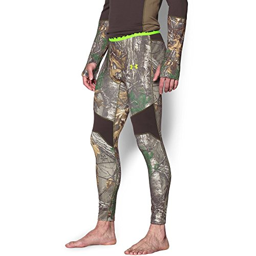Under Armour Men's ColdGear Armour Scent Control Leggings, Realtree Ap-Xtra /Velocity, XX-Large