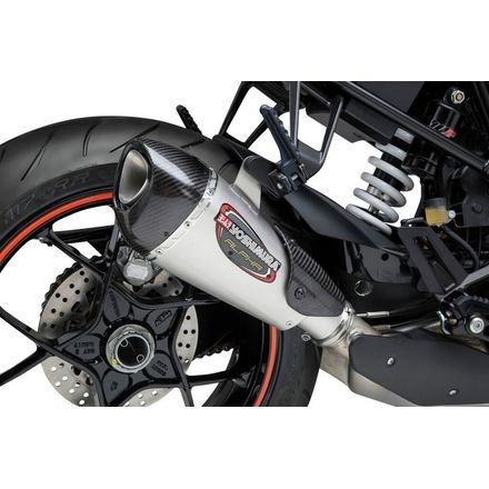 : Yoshimura Alpha T Slip-On Exhaust (Street/Stainless Steel/Stainless Steel/Carbon Fiber/Works Finish) ()