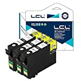 LCL Compatible for Epson 124 T124120 (3-Pack Black) Ink Cartridge for Epson Stylus NX125/NX127/NX130/NX230/NX420/NX530/NX625