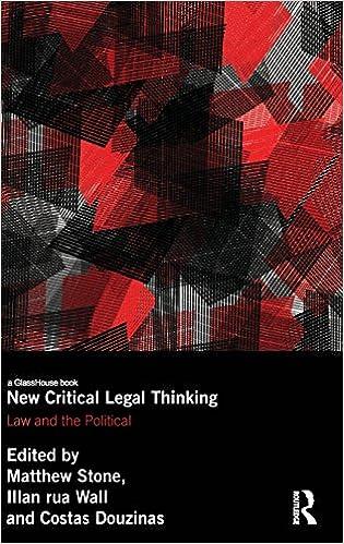 Nouveaux livres téléchargésNew Critical Legal Thinking: Law and the Political (Birkbeck Law Press) PDF DJVU