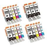 PGI-225 PGI-226 Ink Cartridges 18 Pack (3 Sets + 3 BK without Gray), For Use with PIXMA MX882 MX892 iX6520 MG5220 MG5320 MX712 MG5120 iP4820 iP4920 - Tekmall