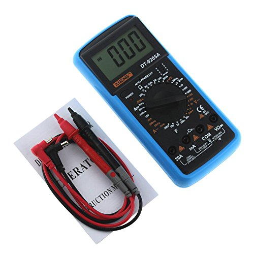 Digital Multimeter DT-9205A AC DC LCD Display Professional Electric Handheld Tester Meter Multimetro Ammeter Multitester by UEB (Image #5)