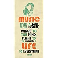 Plato Music Inspirational Motivational Quote Decorative Print (Unframed 12x24 Poster)