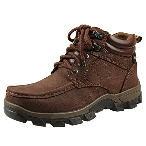 Modern Fantasy Mens Fur Nubuck Leather Logger Outdoor Leisure Sport Shoes Backpacking Boots Size 7 US Brown