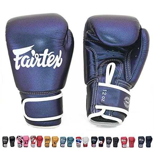 Fairtex Muay Thai Boxing Gloves BGV12 Aura Glow in the Dark , Modified BGV1 Limited Edition Size 10 12 14 16 oz Training Sparring Gloves for Kick Boxing MMA K1 (Aura, 14 oz)