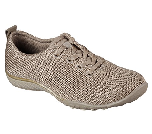 Skechers Relaxed Fit Breathe Easy Serendipity Womens Slip On Sneakers Taupe 11