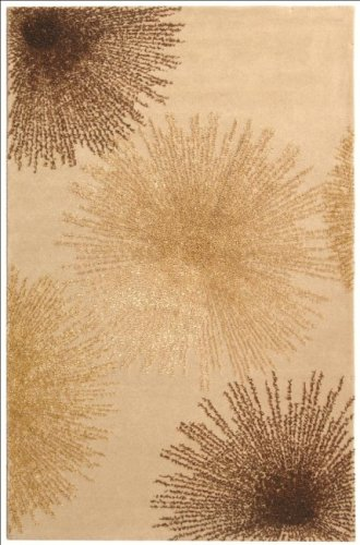 Safavieh Soho Collection SOH712A Handmade Fireworks Beige and Multicolored Premium Wool Area Rug (2'6