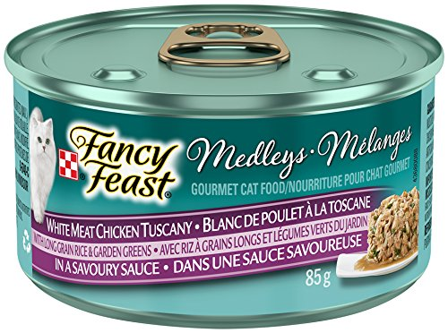 Purina Fancy Feast Medleys White Meat Chicken Tuscany with Long Grain Rice & Garden Greens in a Savoury Sauce Cat Food 85g Can Nestle Purina Pet Care 055800000385