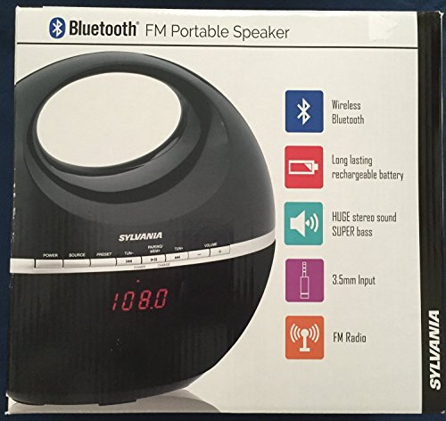 Sylvania Bluetooth FM Portable Speaker black