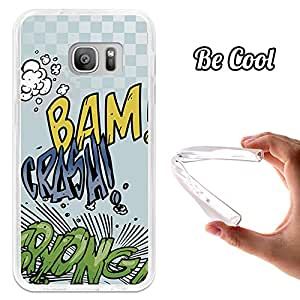 BeCool® - Funda Gel Flexible Samsung Galaxy S7 Comic Style Crash Carcasa Case Silicona TPU Suave