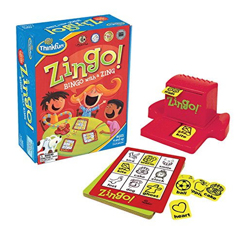ThinkFun Zingo Bingo Award Winning Game for Pre-Readers and Early Readers Age 4 and Up - One of the Most Popular Board Games for Preschoolers and Their Families -
