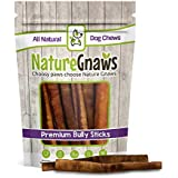 Nature Gnaws Bully Sticks 5-6 inch (25 Pack) - 100% Natural Beef Dog Chew Treats