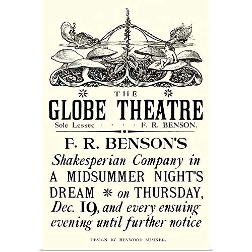 GREATBIGCANVAS Poster Print Entitled Poster Advertising 'A Midsummer Night's Dream' by William Shakespeare by 12
