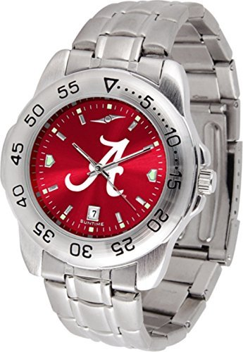 Alabama Crimson Tide Stainless Steel Men's Sport (Alabama Sport Watch)