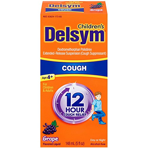 Delsym Children's Cough Suppressant Liquid, Grape Flavor, 5 Ounce