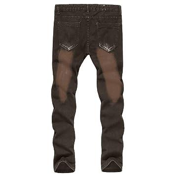 TAOtTAO - Pantalones Vaqueros para Hombre, 100% algodón ...