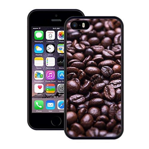Kaffeebohnen | Handgefertigt | iPhone 5 5s SE | Schwarze Hülle