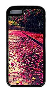 LJF phone case Distinct Waterproof And Red Leaves Everywhere Design Your Own iPhone 5c Case