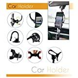 Universal Cell Phone Car Holder Mount Double Clamp, Windshield Strong and Long Shockproof Arm with Strong Sticky Suction Cup for iPhone Xs MAX/XS/XR/X/8/7/7P/6s, Galaxy S6/S7/S8,Google,Huawei