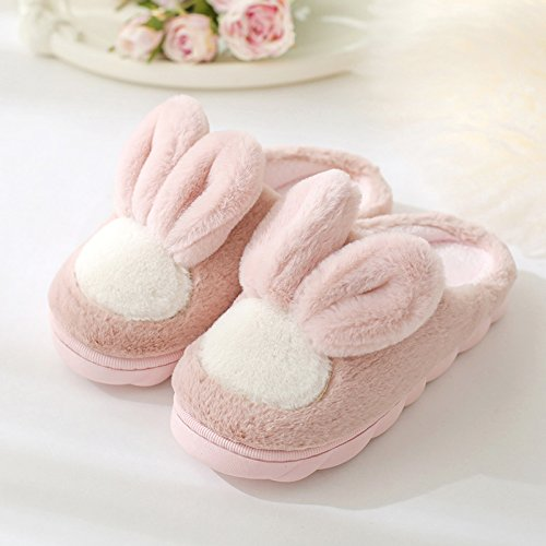 nel Rosa1 coppie bella inverno pantofole soggiornano pantofole donne cotone gancio Il pantofole le DogHaccd indoor che spesse d'inverno lana maschio A6qHT0