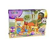 [Little Treasure] Little Treasures Zoo Park Building block 28 pc Duplo compatible toy set for preschool kids 5196 [parallel import goods]