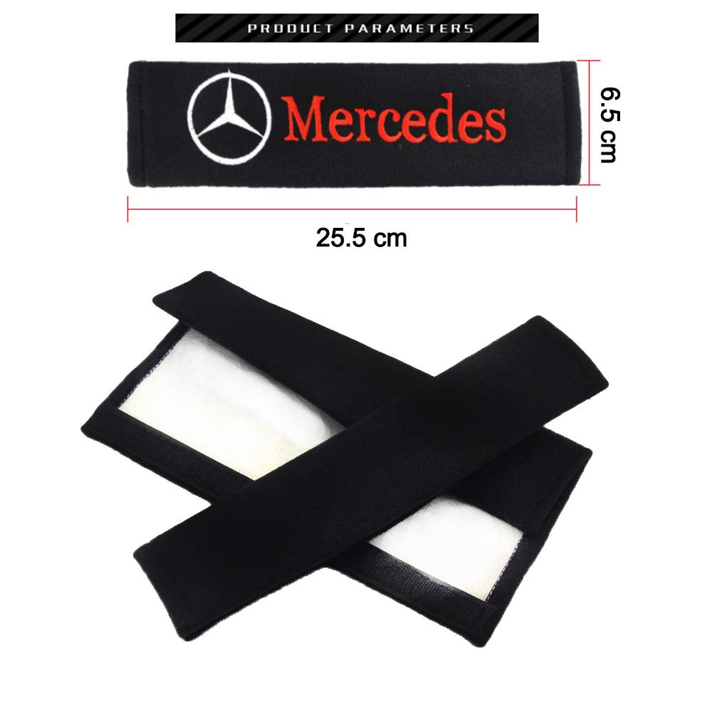 Protect Your Neck and Shoulder from The Seat Belt Rubbing VILLSION 2Pack Car Seat Belt Cover Soft Cotton Shoulder Pads