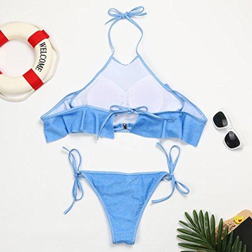 ... TPulling Damen Sommer Soft Cup﹛Cowboy Schultern Bandage-BH﹜Triangle  Bikini﹛Splitsuit ... c94aa948c1