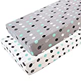 #5:  Stretchy Fitted Pack n Play Playard Sheet Set-Brolex 2 Pack Portable Mini Crib Sheets,Convertible Playard Mattress Cover,Ultra Soft Material,Lollipop Design