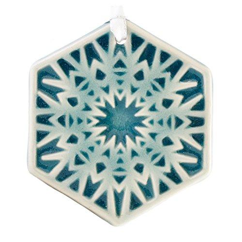 (Pewabic Snowflake Ornament - Frost )