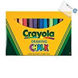 Bargain World 12-Color Colored Drawing Chalk (With Sticky Notes)