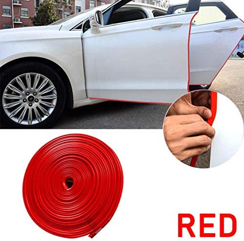 White Rubber Car Anti-Rub Strip Car Door Invisible Edge Crash Bar Protection Pad