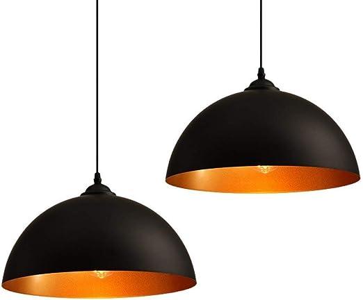 Carys 2 X Lustre Industriel Vintage Luminaire Plafonnier Design