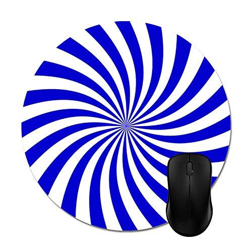 (Blue White Floral Vortex Mouse Pad 8