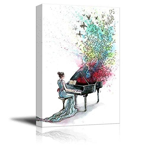 Canvas Prints Wall Art – Grand Piano Music Series C – 32 x 48