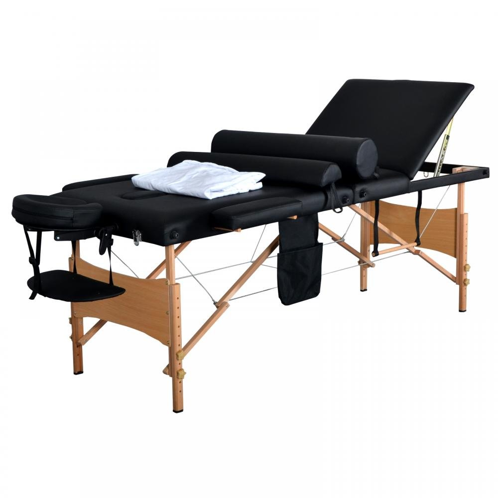 New 84''L 3 Fold Massage Table Portable Facial Bed W/Sheet Bolsters Carry Case 3