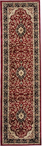 (Well Woven Barclay Medallion Kashan Red Traditional Area Rug 2'3