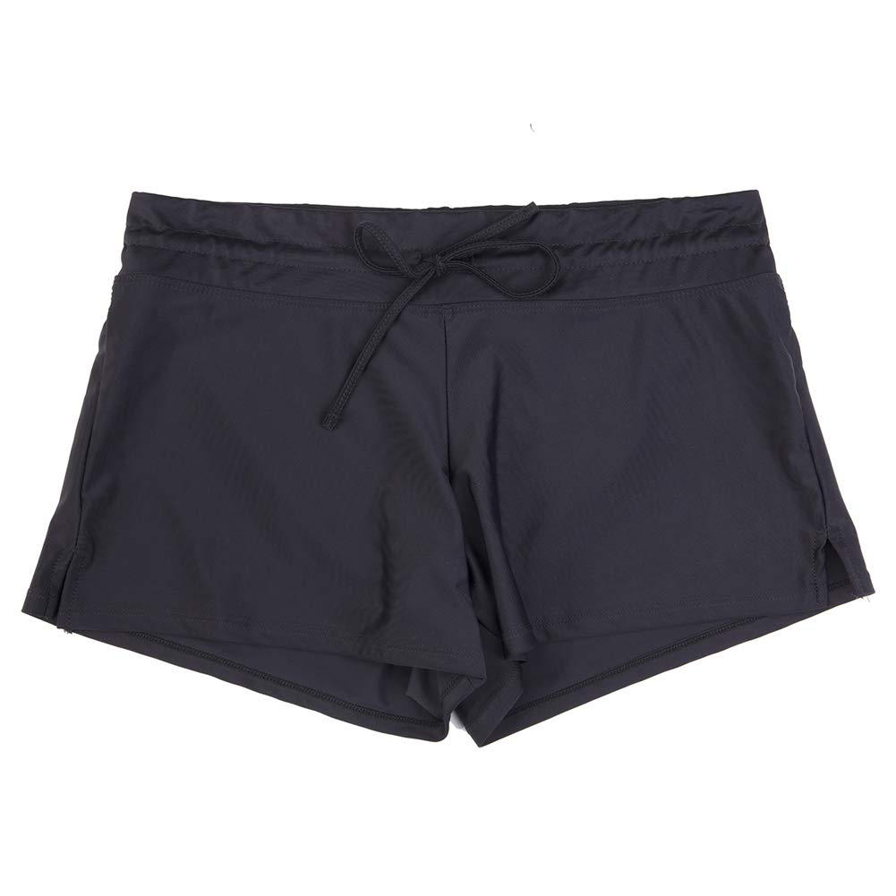 313a91ca60 Womens Side Split Waistband Swim Beach Board Shorts Swimsuit Bottom with Panty  Liner at Amazon Women's Clothing store: