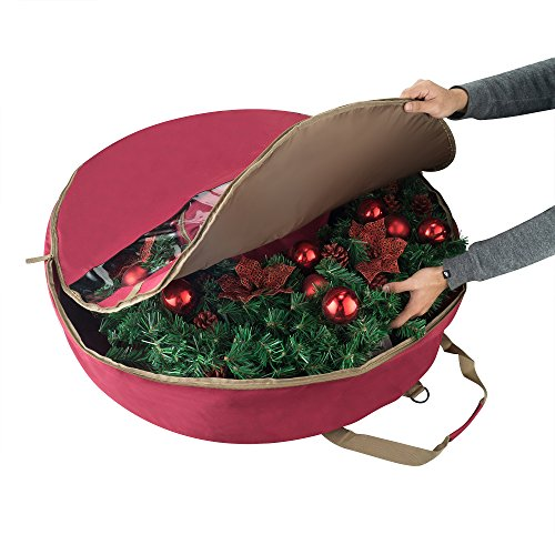 Elf Stor 83-DT5167 1556 Ultimate Red Holiday Christmas Storage Bag for 48'' Inch Wreaths by Elf Stor (Image #6)