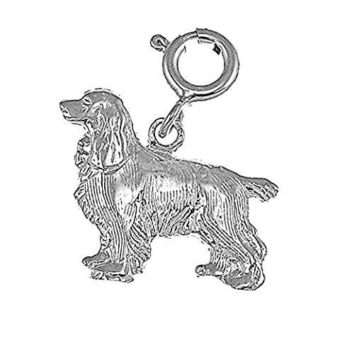 CleverSilver's Sterling Silver Pendant Cocker spaniel Dog