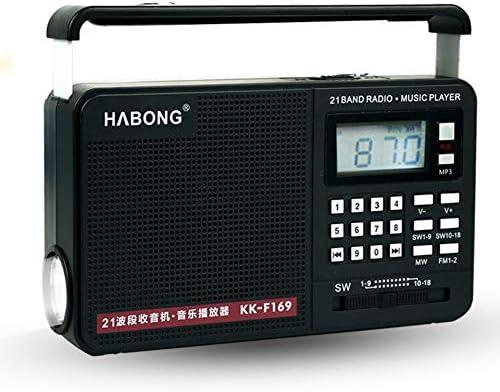 LIAO Receptor de Radio FM/Am/Disco SD Card Archivos SW1-18 Radio ...