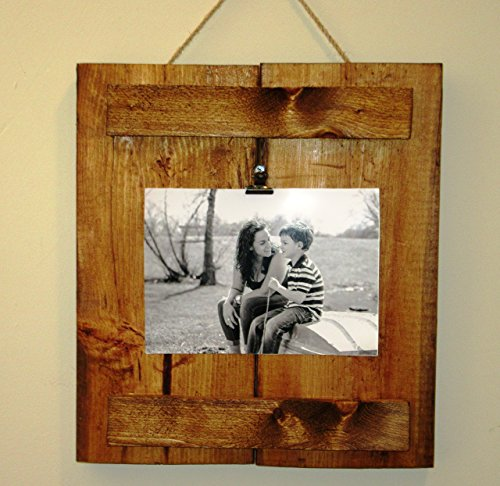 Reclaimed Wood Frame, Photo Clipboard, 4X6 or 5X7