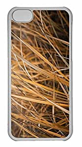 iPhone 5C Case, Personalized Custom Dry Grass for iPhone 5C PC Clear Case