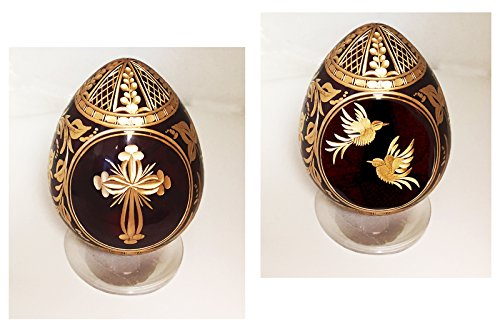 2 Sided Hand Blown Glass Egg C