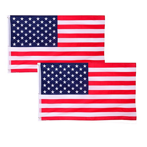 HDE American U.S. Flag Stars and Stripes Patriotic USA Country Banner (3x5 ft) (2 - Sport Is Olympic Summer A Basketball